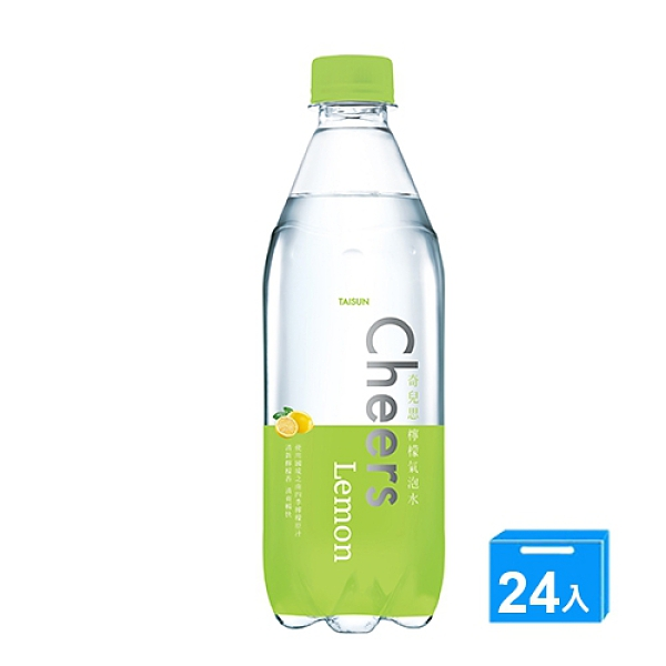 Cheers檸檬氣泡水590ML x 24【愛買】