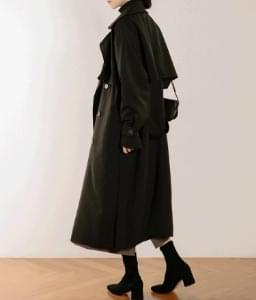 韓國空運 - ESSAYStorm Flap Detail Double-Breasted Trench Coat 大衣外套