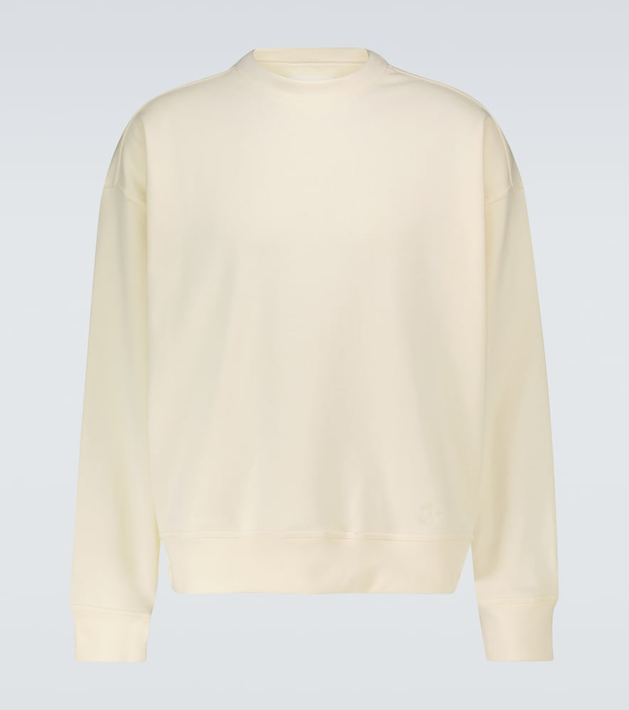 Long-sleeved cotton sweatshirt