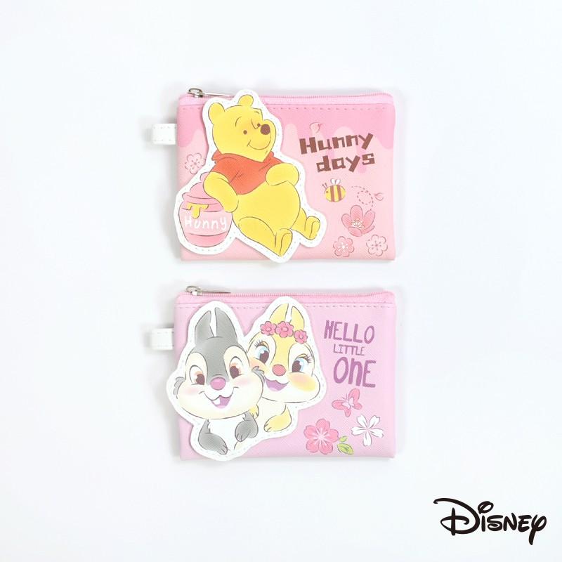 Disney 迪士尼|粉紅季立體皮革收納包(小) 奇奇蒂蒂 桑普 邦妮兔 維尼 粉紅季 零錢包 收納 CA601