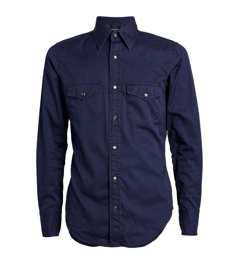 Tom Ford Denim Western Shirt