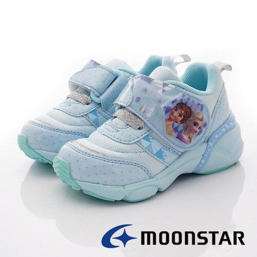 日本月星t機能童鞋-冰雪電燈聯名機能款-DNC12719藍-(15cm-19cm)