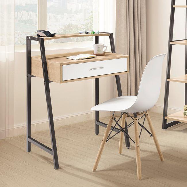 【HB490-03】湯米2.2尺黑腳書桌(黑)