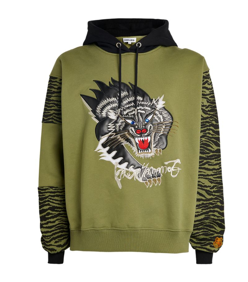 Kenzo Printed-Panels Icon Tiger Hoodie