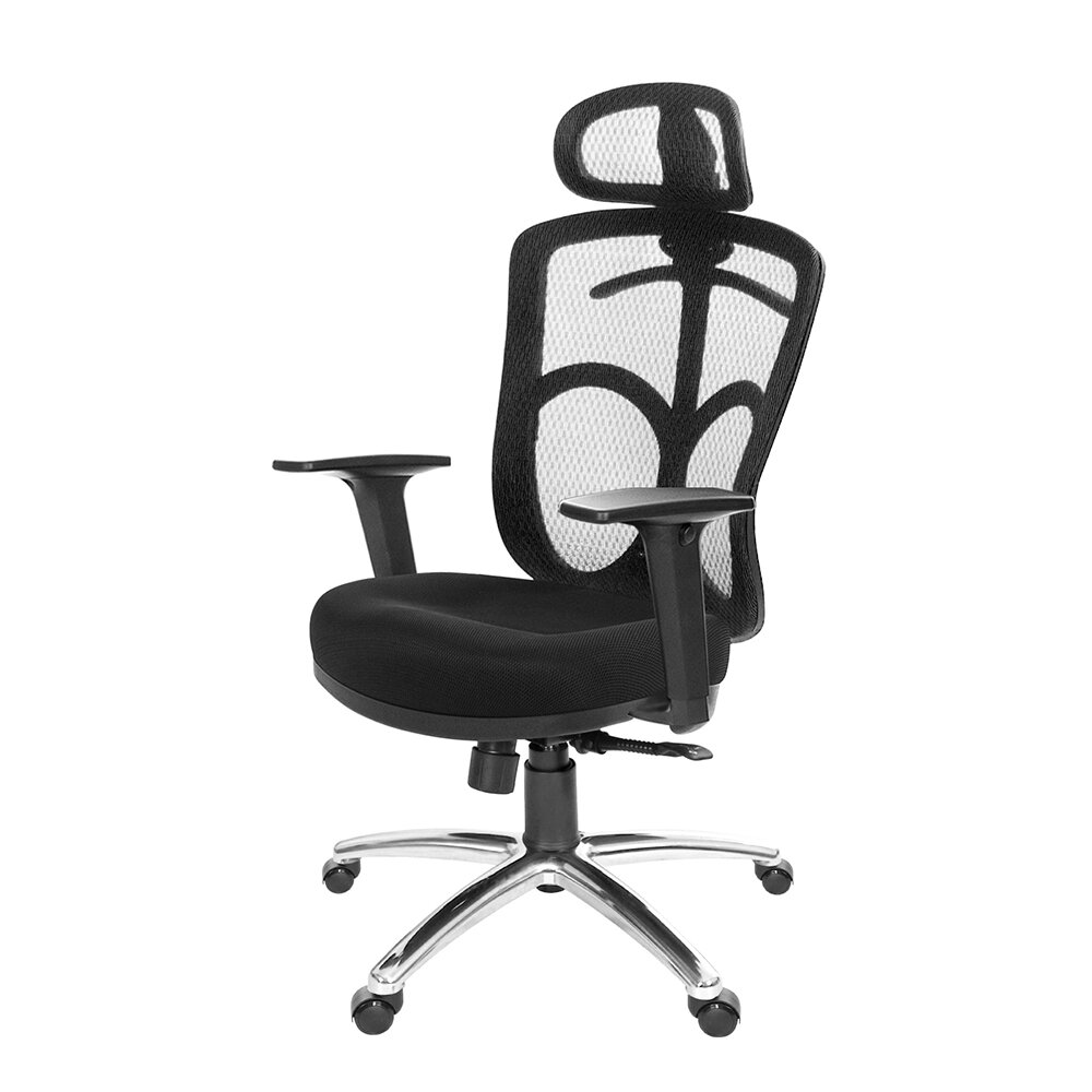 GXG 高背半網 電腦椅  (鋁腳/2D升降扶手)TW- 096 LUA2