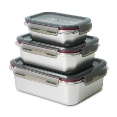 *好運達網路家電館*三件式不鏽鋼保鮮盒組 SP-2106