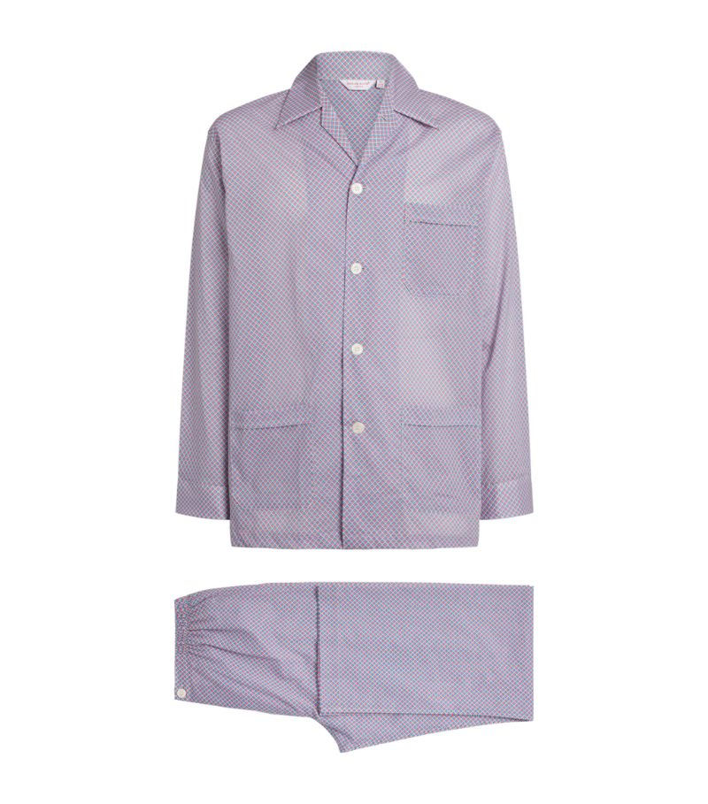 Derek Rose Cotton Geometric Pyjama Set