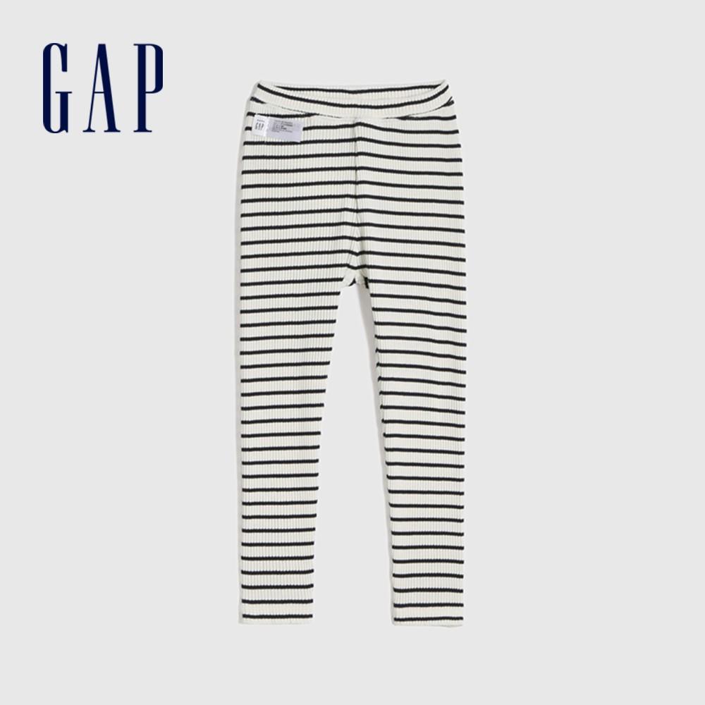 Gap 女幼童 彈力舒適羅紋針織長褲 677879-海軍藍條紋