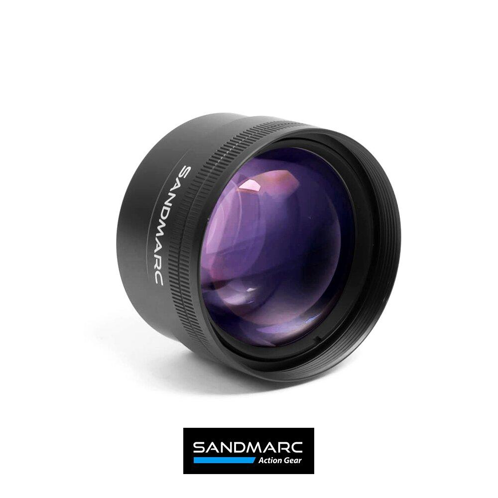 【SANDMARC】2X Telephoto長焦手機近攝鏡頭 含鏡頭夾具與 iPhone12Mini 背蓋(iPhone長焦鏡頭)