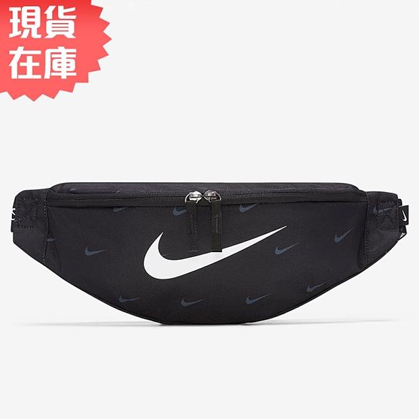 【現貨】Nike Heritage Swoosh 側背包 腰包 滿版 黑【運動世界】DC7343-010