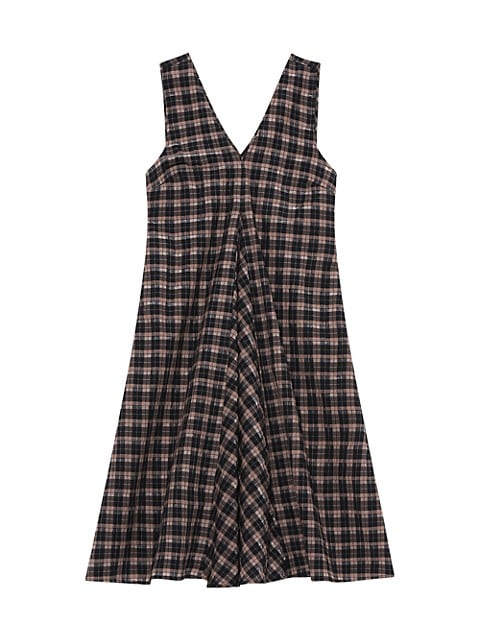Seersucker Check Sleeveless Mini Dress