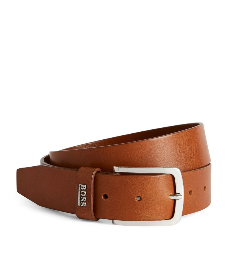 Boss Leather Logo Belt