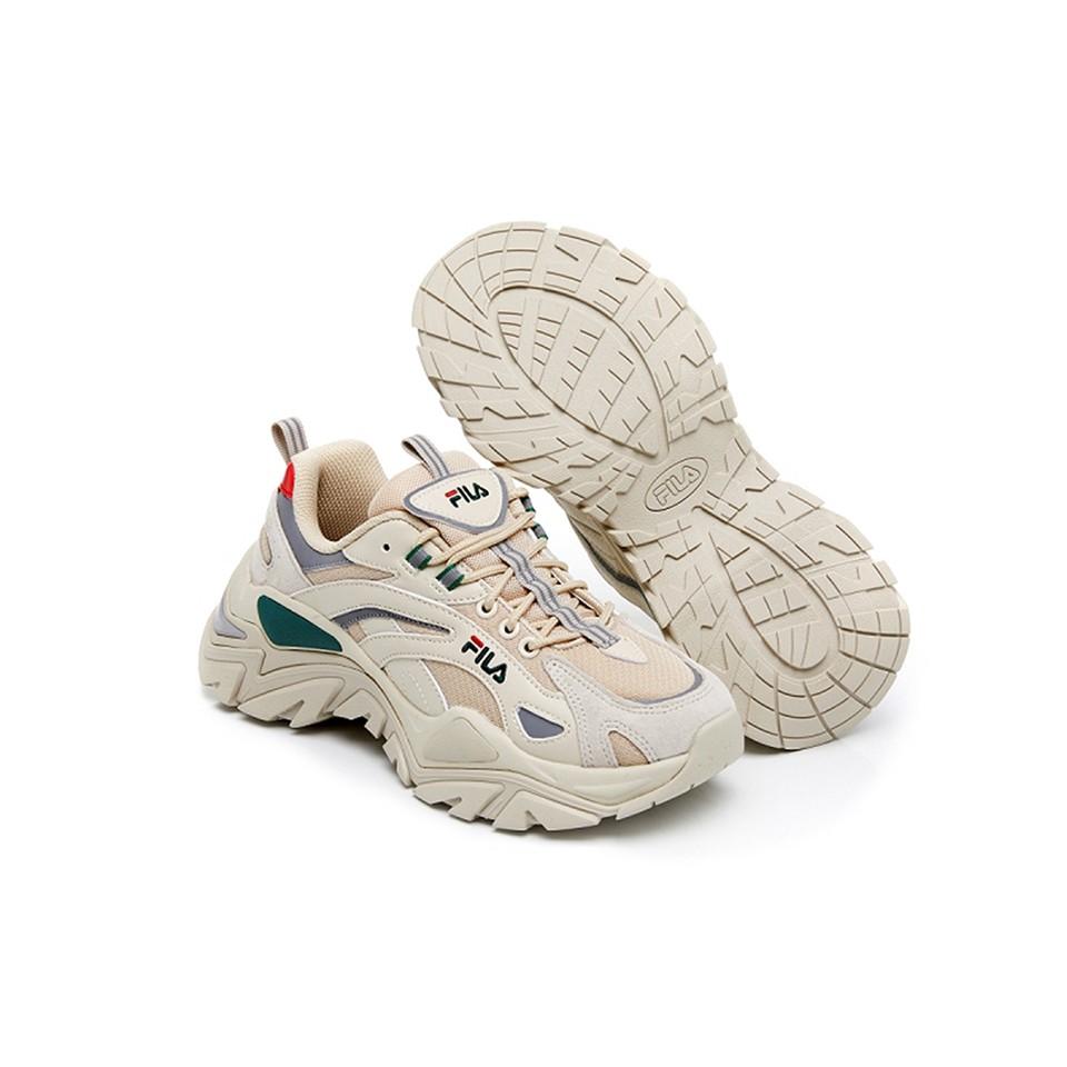 FILA INTERATION LIGHT 中性運動鞋-米白/綠/紅 老爹鞋 厚底 BTS款 GIANT MALL