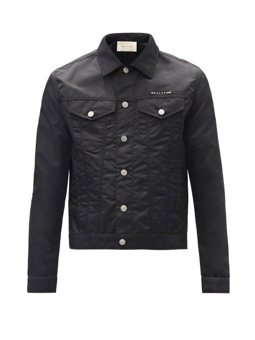 1017 ALYX 9SM - Logo-plaque Shell Jacket - Mens - Black