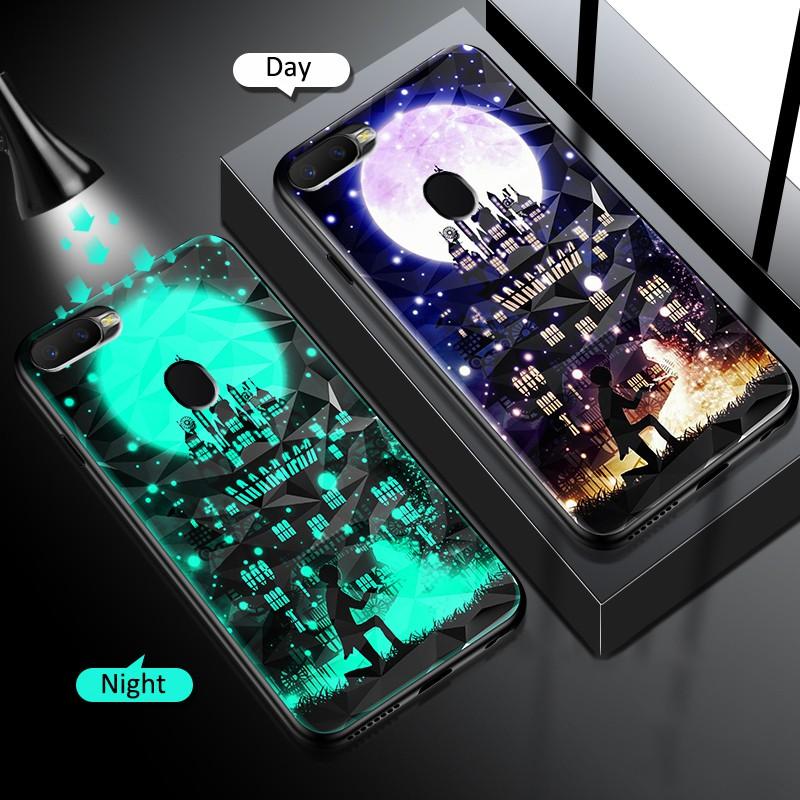 夜光防摔 Tpu 保險槓手機殼 Oppo A92 A3S A5S A9 2020 A5 2020 Realme C1 A