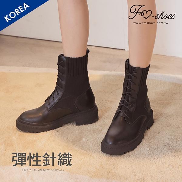 靴.針織厚底工程襪靴-黑-FM時尚美鞋-韓國精選.&ME
