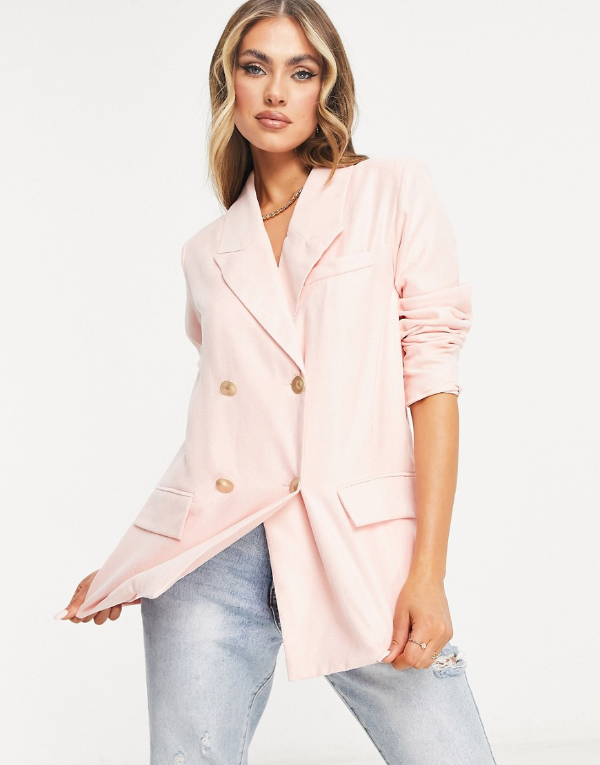 Unique21 oversized blazer in pink