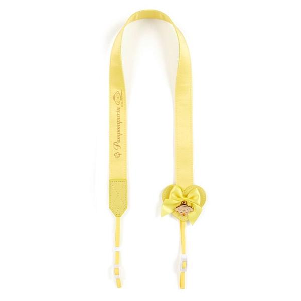 小禮堂 布丁狗 日製 緞面望遠鏡背帶 相機背帶 多功能背帶 頸掛繩 (黃 演唱會粉絲收納) 4550337-45305
