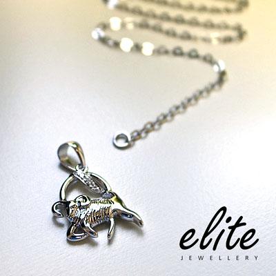 【伊麗珠寶 Elite Jewellery】925純銀星座項鍊 - 摩羯座