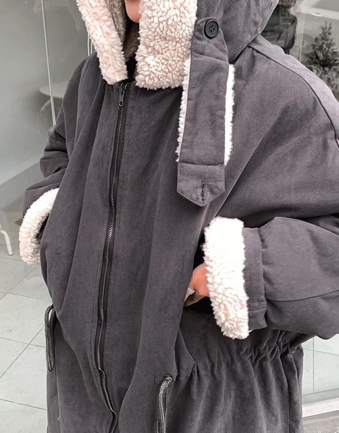 韓國空運 - Wool Overfit Long Field 大衣外套