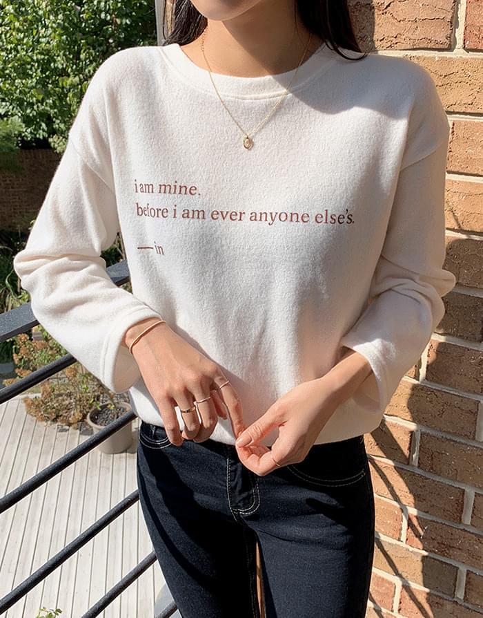 韓國空運 - Mine Fleece-lined T-shirt 長袖上衣