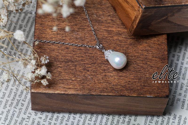 【伊麗珠寶 Elite Jewellery】925純銀 南洋珍珠系列 - 珍心愛你