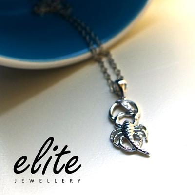 【伊麗珠寶 Elite Jewellery】925純銀星座項鍊 - 天蠍座