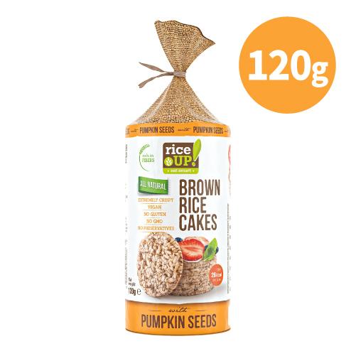 [RiceUP!] 健人必備優質碳水米餅 (120g/袋) (全素) 南瓜籽