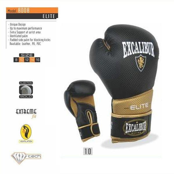 『VENUM旗艦館』Excalibur 8008/10 ELITE 菁英款 拳擊手套 黑金 尺碼 12oz