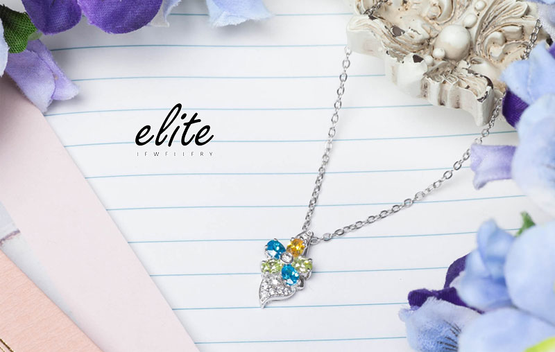 【伊麗珠寶 Elite Jewellery】925純銀 八心八箭美鑽 - 繽紛花園