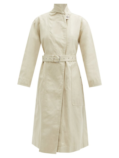 Isabel Marant Étoile - Peter Belted Cotton-blend Canvas Coat - Womens - Ivory