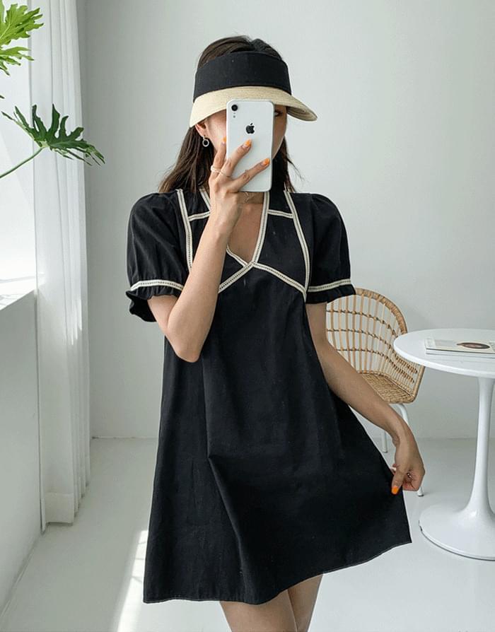 韓國空運 - Stay Lappa Dress 迷你短洋裝