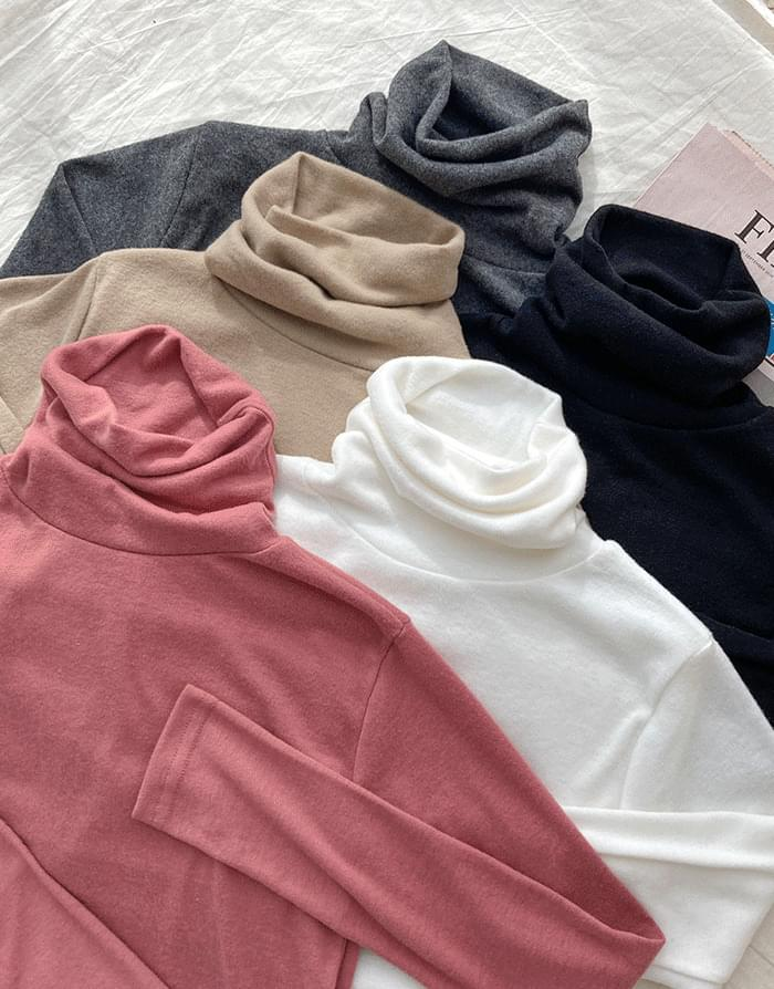 韓國空運 - Warm Turtleneck T-shirt 長袖上衣