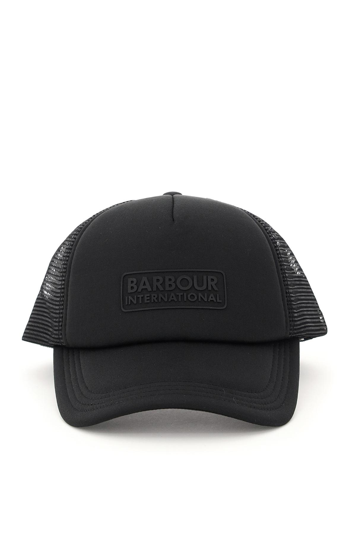 BARBOUR INTERNATIONAL HELI TRUCKER BARBOUR BASEBALL CAP OS Black Technical