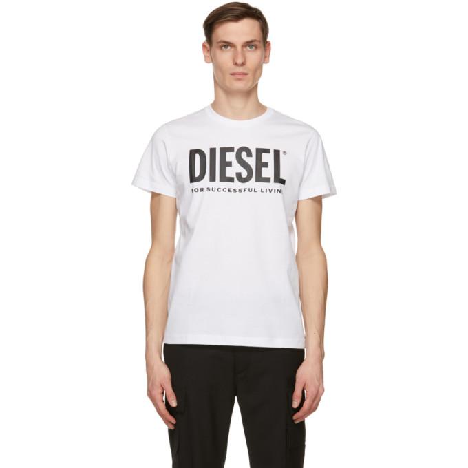 Diesel 白色 T-Diego-Logo T 恤