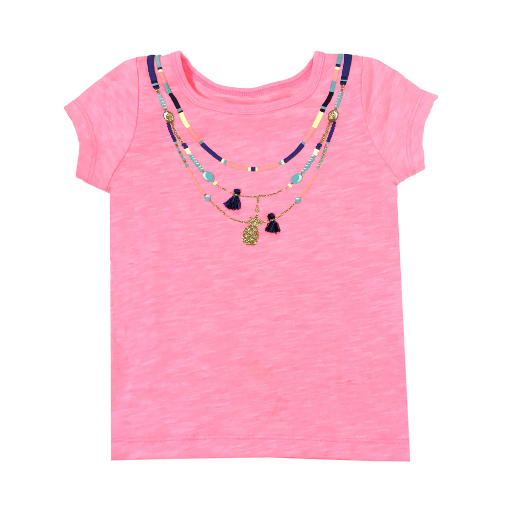短袖T恤上衣 粉鏈子 女童 | Carter's 卡特【CA253G906】BA0601