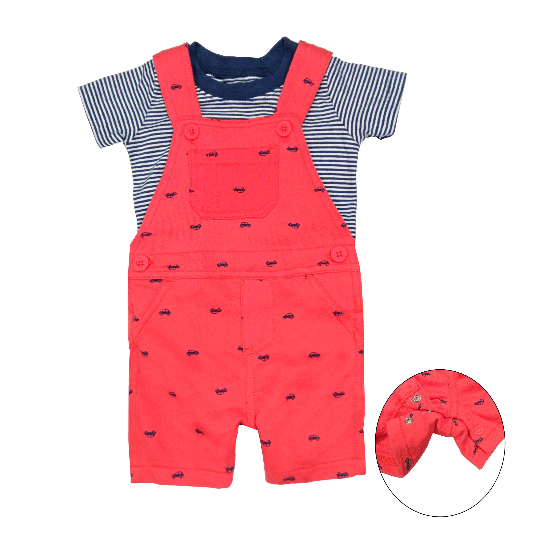 短袖套裝二件組 吊帶短褲+T恤上衣 紅車車 男寶寶 | Carter's 卡特【CA118A115】BB0404
