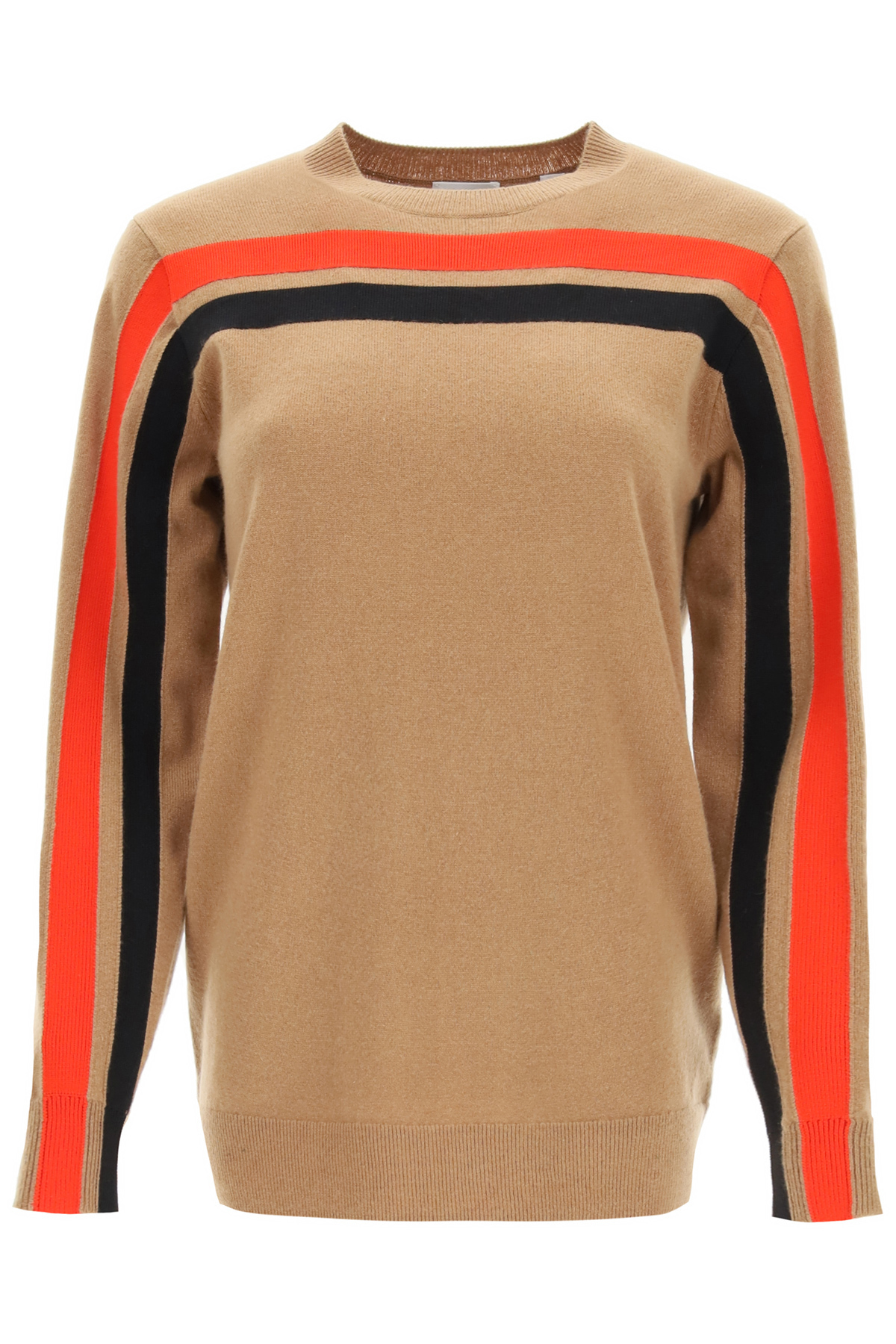 BURBERRY STEFFY SWEATER IN TECHNICAL CASHMERE XS Brown, Red, Black Cashmere