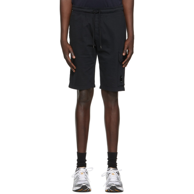C.P. Company 黑色 Light Jersey 成衣染色工装短裤