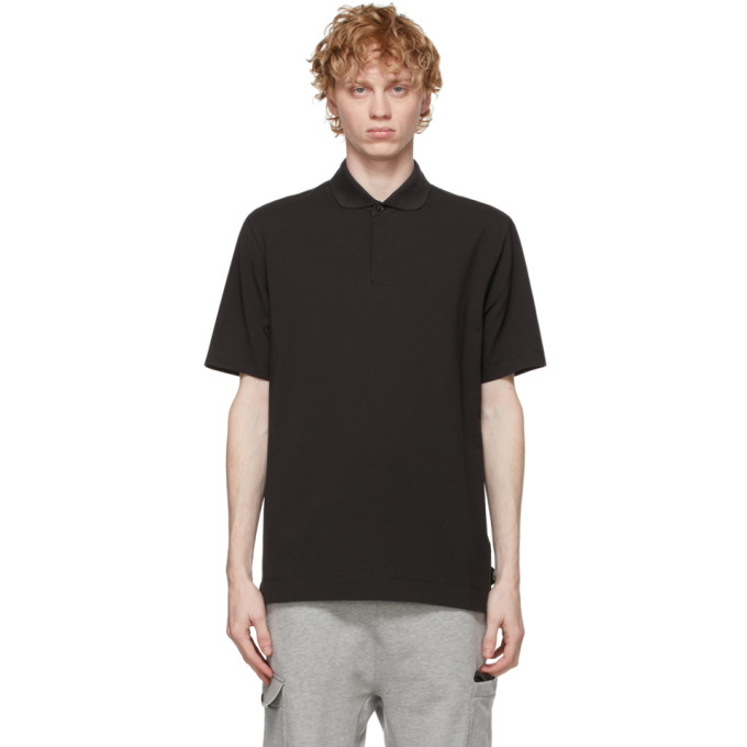 Z Zegna 黑色棉质 Polo 衫
