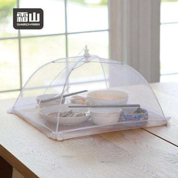 【日本霜山】易開收可折疊防蠅餐桌飯菜罩(2-3人家庭適用)