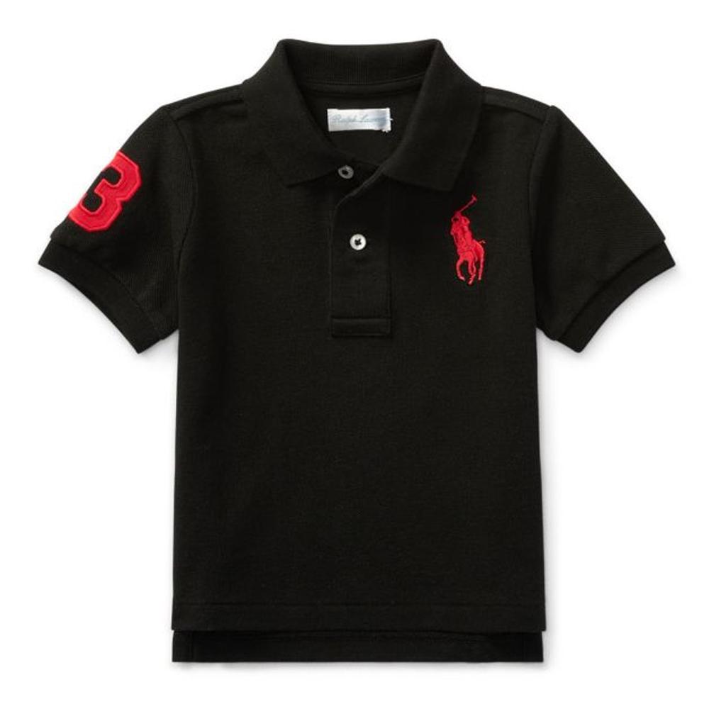 短袖polo杉上衣 黑紅大馬 男寶寶 | Polo Ralph Lauren【RA399333BLK】BA0204