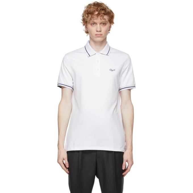 Ermenegildo Zegna 白色徽标 Polo衫