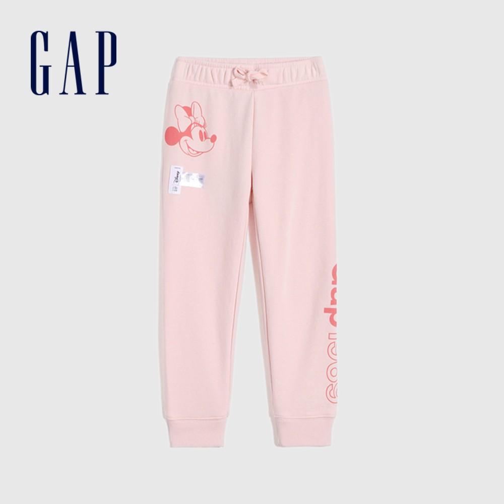 Gap 女幼童 Gap x Disney 迪士尼系列法式圈織軟休閒褲 681022-粉色