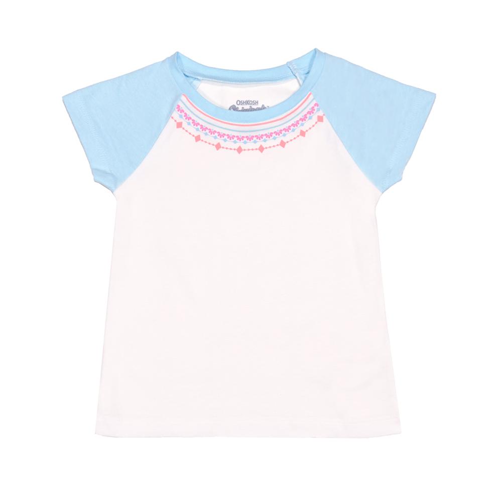 短袖T恤上衣 白項鍊 女童 | OSHKOSH【OS22180011】BA0601