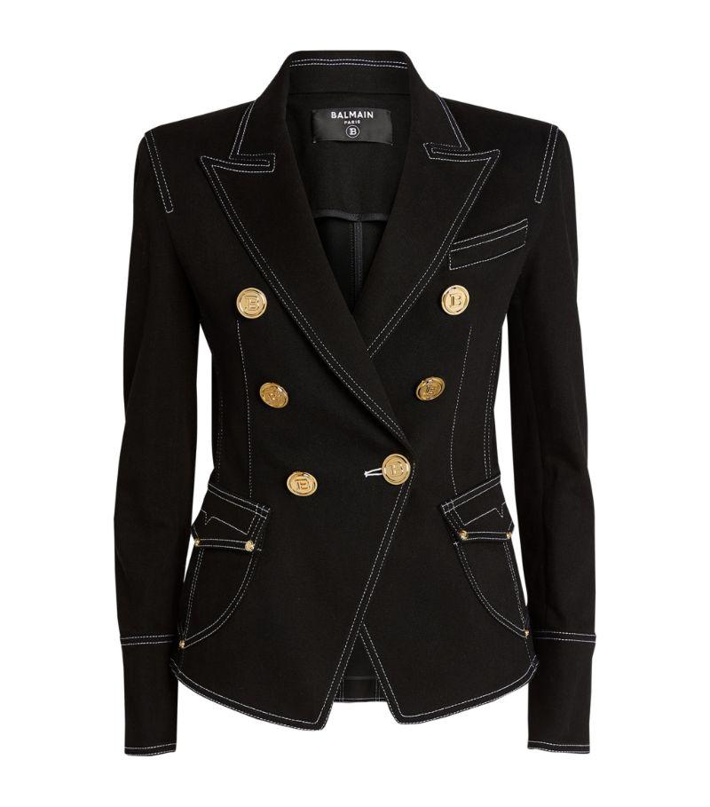 Balmain Double-Breasted Denim Jacket