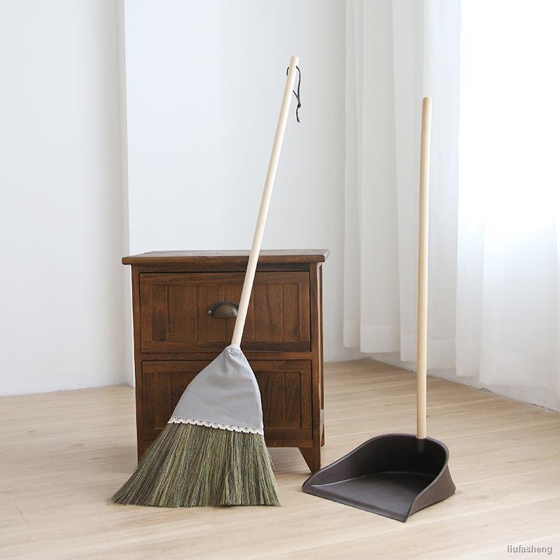 下殺☸日式芒草掃把簸箕套裝家用軟毛掃帚組合包布不粘毛發笤帚