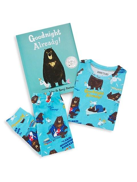 Little Boy's & Boy's 3-Piece Goodnight Already Pajamas & Book Set