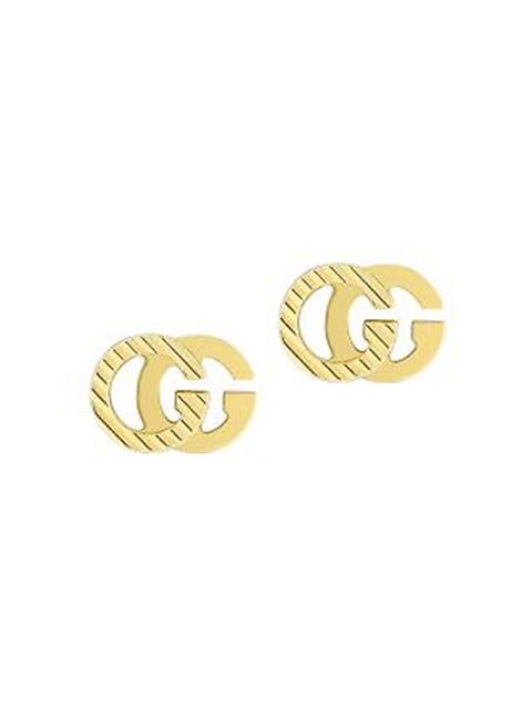 GG Running 18K Yellow Gold Stud Earrings