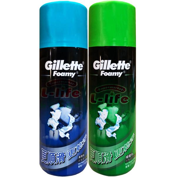 Gillette.吉列剃鬚膏/刮鬍泡210g(檸檬/薄荷)